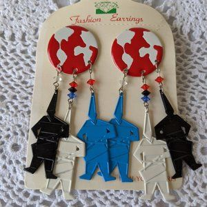 Ladies Figurative Men Dangle Earrings